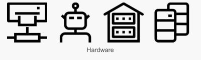 Icon Set Hardware in Konturdarstellung
